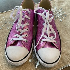 Converse Girls All-Star Sparkle Pink Sneakers